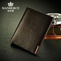 Free shipping Fashion male short design wallet vertical men's cowhide wallet Men wallet