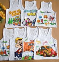 Manufacturers wholesale summer children vest Pure cotton sleeveless vest Children's T-shirt 100% cotton