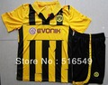 2012-2013 Free customed name&numer jersey Borussia Dortmund 3rd Home Champion League yellow&black soccer jersey football shirt