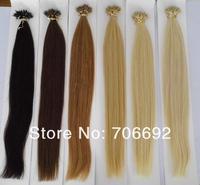 Newest 18'' 20'' black brown blonde Nano Ring hair 100s/lot 1g/s Indian remy 100% Human Hair Extensions + 100pcs Nano Rings