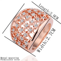 18K Gold Plated Ring R180 Butterfly Jewelry for Lady Golden Plating Rhinestone Austrian Crystal Designer Ring Promotion for Gift