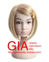 GIA Famous Brand High Quality Plastic Children Female Mannequin Head With Wig Sunglass Jewelry Display