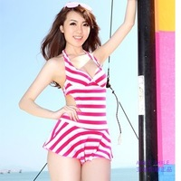 Women's fashion sexy swimwear bikini big small steel push up skirt swimwear one-piece swimsuit