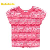 Balabala children's clothing t-shirt children cartoon child 100% T-shirt short-sleeve cotton t-shirt