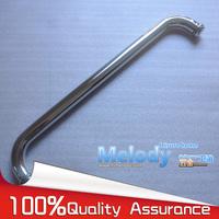 H008 Frameless Bath room Shower Door Handle 304 stainless steel Polish Chrome Towel bar C-C:400mm