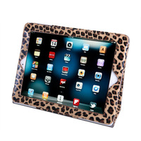 NEW Leopard Print Leather Magnetic Smart Stand Case Stand for iPad 2 3 4,+ touch pen  free shipping
