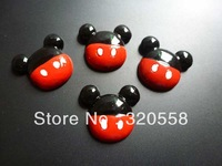 New lovely red mickey FlatBack Resins Scrapbooking Embellishment 50pcs Free Shipping