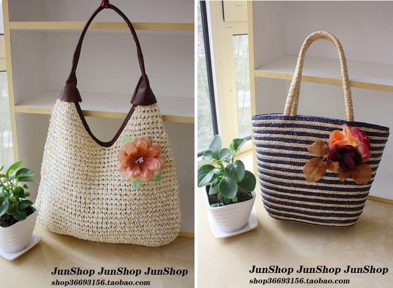 Summer straw bag beach bag rattan bag innumeracy 10 - 30(China (Mainland))