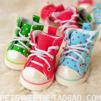 Little platform shoes child pet shoes dog shoes sport slip resistant puppy shoes lace shoes