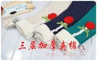 Girls Leggings Fantasia Infantil Spring Children's Clothing Female Child Thickening Legging Flower Jeans Warm Pants Trousers