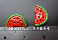 New lovely fruit watermelon  FlatBack Resins Scrapbooking Embellishment 50pcs Free Shipping