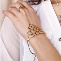 Sunshine jewelry store fashion punk cutout long chain fish scale bracelets & bangles S145 ( $10 free shipping )