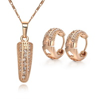18K Gold Plated Nickel Free Necklace Earrings Sets 2013 Latest Fashion Jewelry Set S013