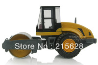 Free shipping high quality diecast mini Alloy Single wheel road roller engineering construction vehicle model kids toy gift