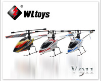 Newest WL Toys V911 2.4G 4CH Single Blade Gyro RC MINI Outdoor Helicopter With LCD and 2 Batteries ----Ship with Color box