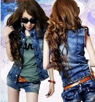 2013 Spring new  women's Fashion Personalized denim skirt trends temperament denim shortpant Set Jeans shorts+Free  Shoppng
