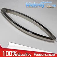 Frameless Shower Door Square tube Moon Bend Handle L shape 304 stainless steel Chrome