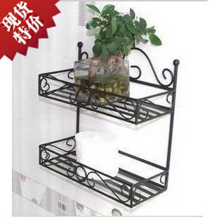 Fashion wrought iron furniture iron shelf wrought iron wall rack bathroom jiaojia(China (Mainland))
