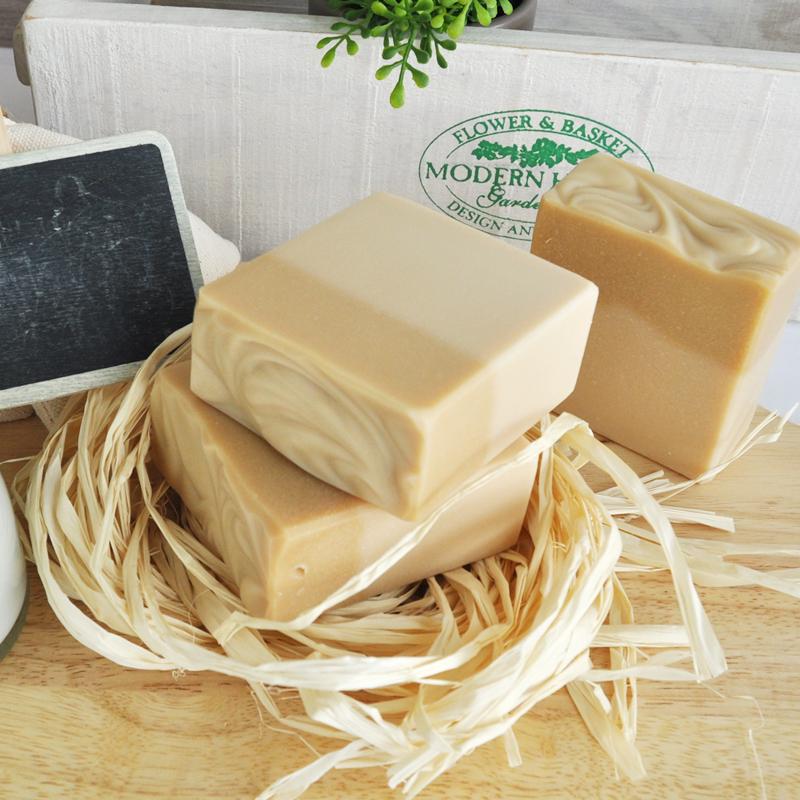 Herbcare natural food goat milk handmade soap raw material 110g-115g whitening blemish anti oxidation(China (Mainland))