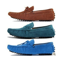 2013 male gommini loafers boat shoes scrub genuine leather shoes lazy shoes fashion male shoes