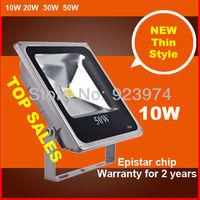 Free shipping  BOPO 2013 New Ultra-thin LED floodlight integration 85~265V Warm white aluminum 10W Water proof IP65 Flood light