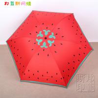Anna pencil umbrella watermelon umbrella sun protection umbrella anti-uv umbrella red