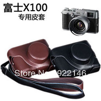 new popular free shipping Leather case price on sale special camera bag for Fuji X100