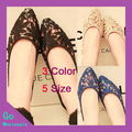 2013 New Arrival Fashion Woman Lace Embroidered Transparent Flats Shoes Cut-Outs Pointed Toe Flat PVC 3 Color