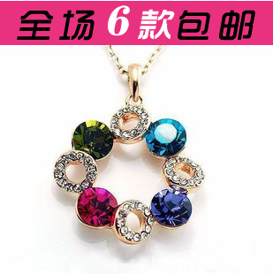 Accessories full rhinestone lucky ball crystal chain short necklace Women(China (Mainland))