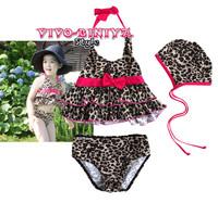 Girl Leopard Swimwear Tankini Swimsuit Bikini Bathers 1 6Y Kids Surfing Costume