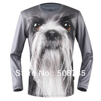 Free Shipping,long sleeves t-shirts,DIY 3D T-shirts,cool men sports t-shirt,  sport swear