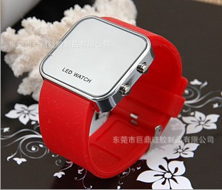 Min.order is $30 (Mix-Order) Free Shipping hot selling products 2013 silicone led mirror watch,2 Pcs/Lot(China (Mainland))
