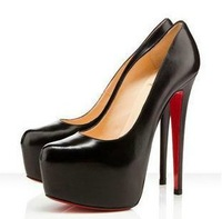 2013 New Womens Sexy Vogue Red Bottom Platform 16cm High Heel Pumps Party Wedding Court Pumps X324