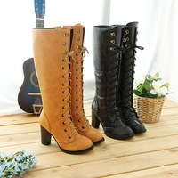 new knee boots high heel shoes winter fashion sexy warm long women boot pumps on sale size 30-43 Jql-16