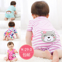 Summer baby bodysuit clothes baby spring infant newborn supplies summer short-sleeve romper character style hot selling retail