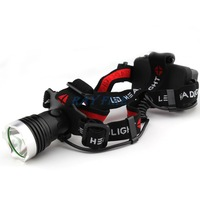 1800 Lumens CREE XM-L XML T6 LED Rechargeable Head Lamp Light Headlight Headlamp ( 18650 Battery not Included) Free Shipping