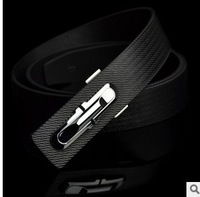 Free shipping hot sale 2013 new fashion design high quality men belts elegant genuine leather comfortable two colors