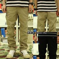 Straight pants aape buku casual black casual male  bboy hip-hop pants E522