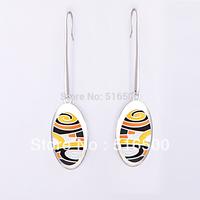 Free Shipping New Fashion Zinc Alloy Enamel Jewelry Pendant Earring, Min1pair