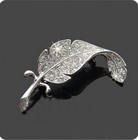MinOrder$10(mix order)Free Shipping!Brick leaves Brooch