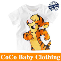 NEW ARRIVAL HOT Sell 5pcs/lot High Quality Boys T Shirt Kids Children Tops Summer Wear Short Sleeve Clothing Tiger T SHIRT