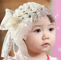 Free shipping Flower Baby Hairbands,Girls Feather Headband,Infant Knitting Hair Weave,Baby Hair Accessories HB032