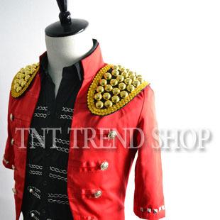 men 2013 top selling Tnt royal gold buckle epaulette brooch accessories costume