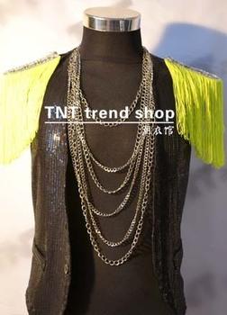men 2013 top selling Tnt series epaulette neon green djds costume