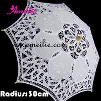10pcs/Lot Free Shipping,Wedding Decoration,11.8inches Promotion Child Stock Lace Parasols