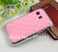 10pcs/lot free ship Luxury Bling Diamond Crystal Star Hard Case Cover For Samsung Galaxy Y S5360+1pcs film