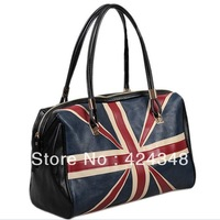 2013 new British style uk flag fashion women tote bag large capacity shoulder bag M word black  bag A45 sacos bolsa freeshipping