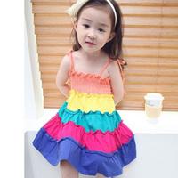 2013 female child summer child one-piece dress princess /children's clothing suspender skirt