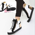 ladies cheap fashion shoes 2013 spring gz elevator  casual  high-top  metal paillette lacing boots
