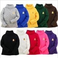 2013 spring all-match male bear girls clothing baby turn-down collar long-sleeve T-shirt 20c basic shirt